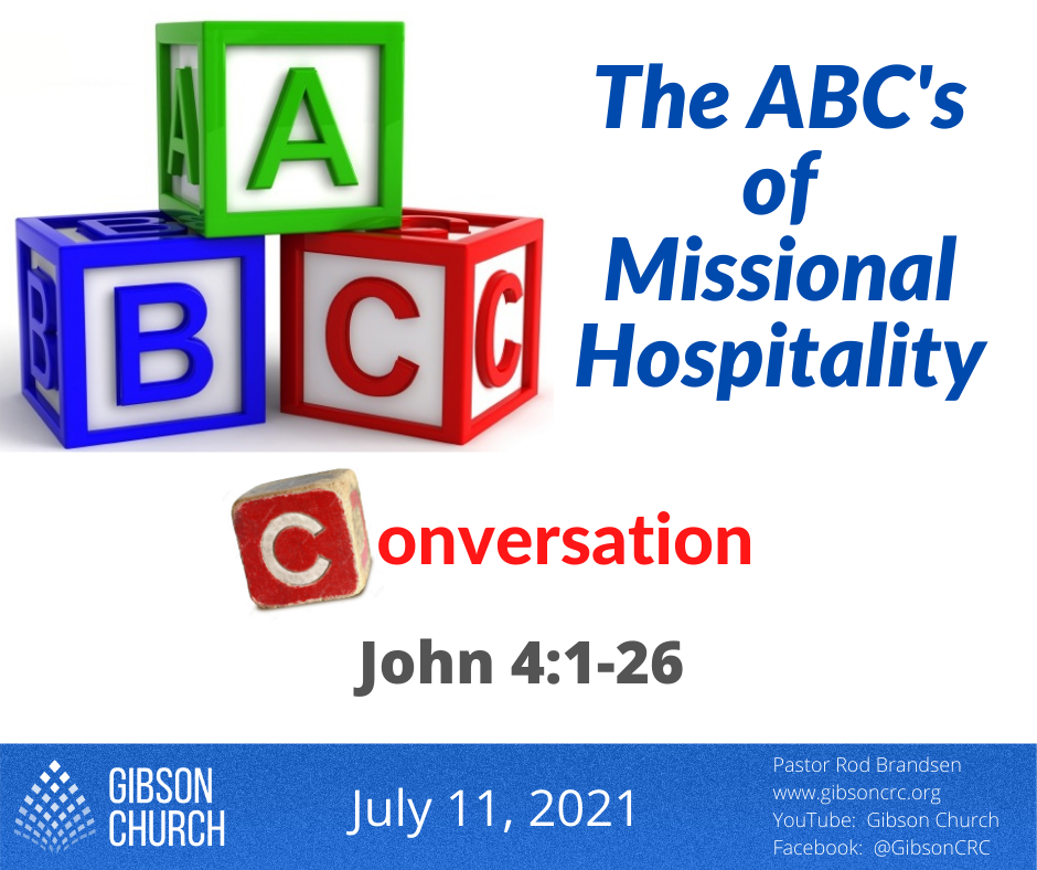 The ABC's of Missional Hospitality–Conversation