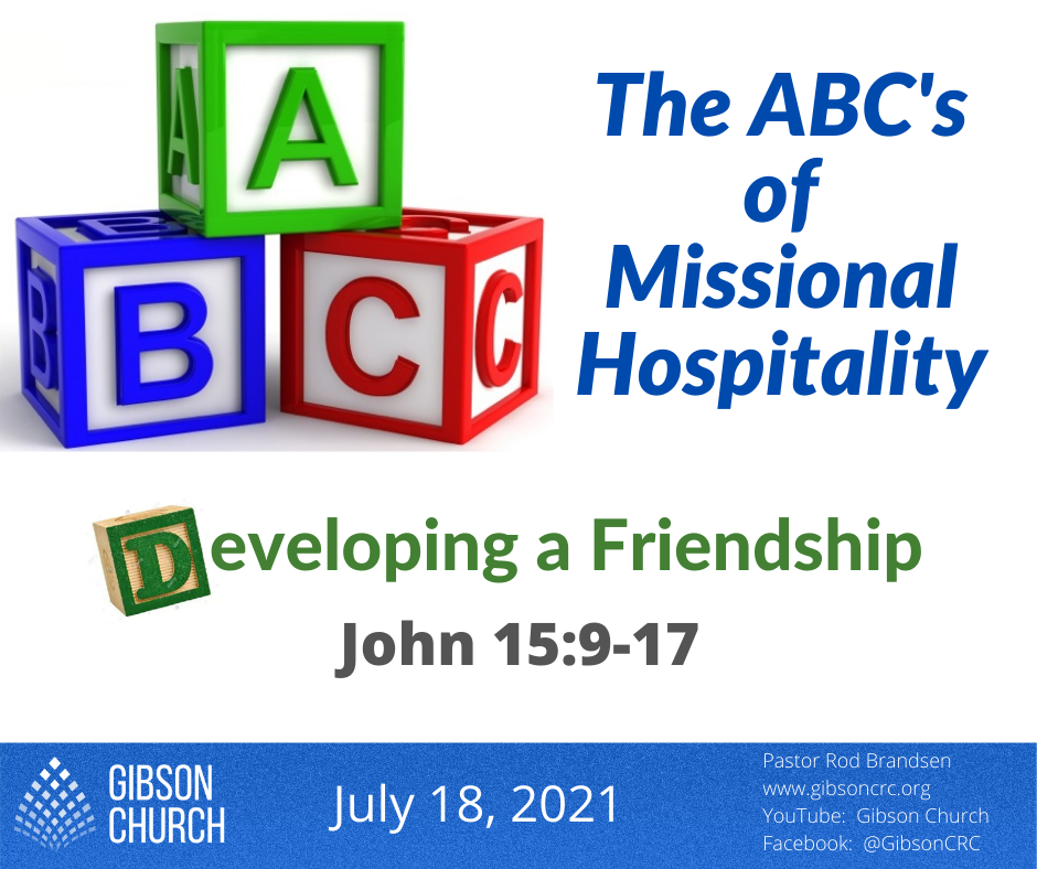 The ABC's of Missional Hospitality–Developing a Friendship