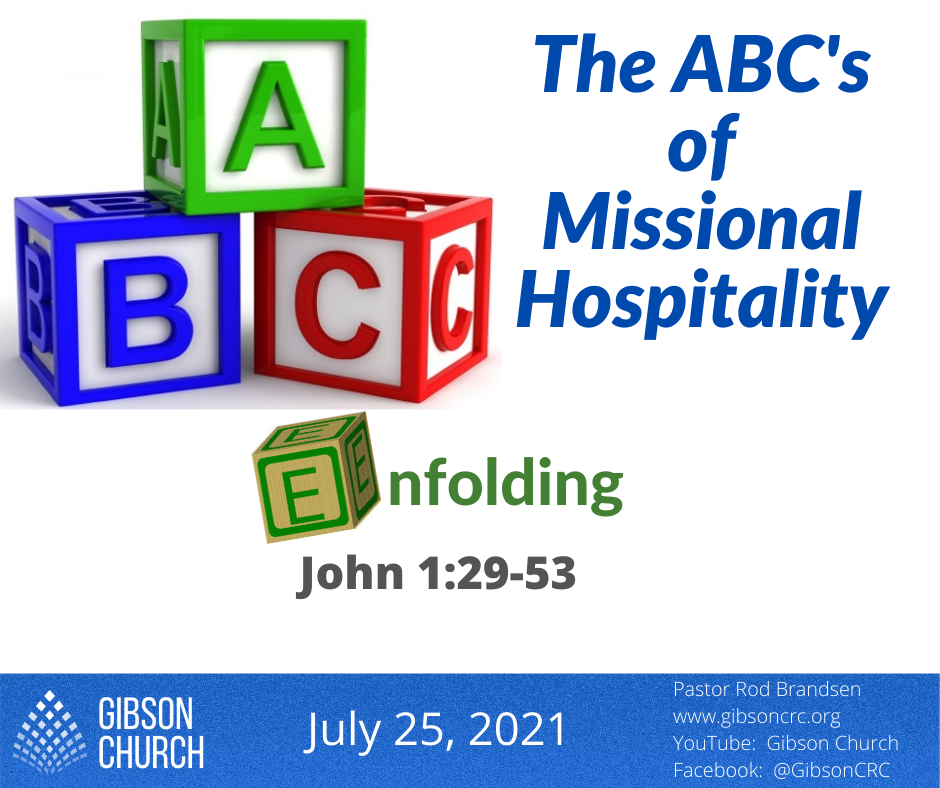 The ABC's of Missional Hospitality–Enfolding